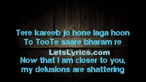 SANAM RE LYRICS -Letslyrics