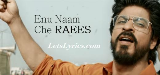 Enu-Naam-Che-Raees Letslyrics
