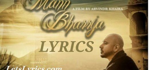 MANN BHARYA Letslyrics