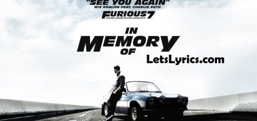 See You Again Lyrics.-Letslyrics