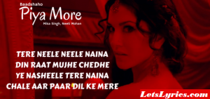 PIYA MORE Lyrics