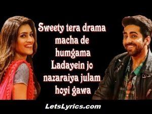 Sweety Tera Drama song lyrics-letslyrics